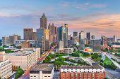 Atlanta, Georgia, USA downtown city skyline at dusk. poster