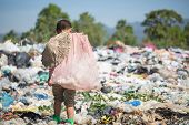 Child Walk To Find Junk For Sale And Recycle Them In Landfills, The Lives And Lifestyles Of The Poor poster