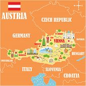 Stylized Map Of Austria poster