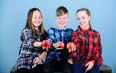 Group Teenagers Cheerful Kids Hold Apples. Boy And Girls Friends Eat Apple. Teens With Healthy Snack poster