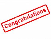 Congratulations Stamp Red Rubber Stamp On White Background. Congratulations Stamp Sign. Affiliate St poster