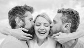 Everything You Should Know Avoid Friend Zone Start Dating. She Likes Male Attention. Girl Hugs With  poster