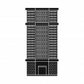 Vector Illustration Of Skyscraper And House Sign. Set Of Skyscraper And Urban  Stock Vector Illustra poster