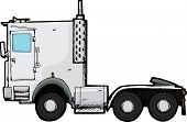 pic of 18 wheeler  - Generic tractor trailer rig illustration isolated over white - JPG