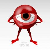 Multicolor eyes character