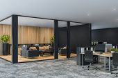 Black Office Lounge Area Corner poster