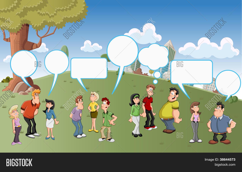 Dibujos De Personas Hablando