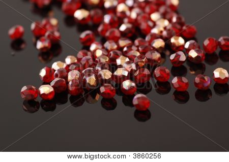 Beads On The Black Background