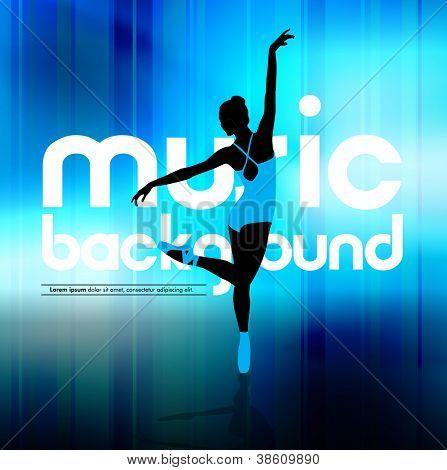 Ballet. Dancing illustration. Vector