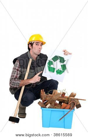 Builder recycling material