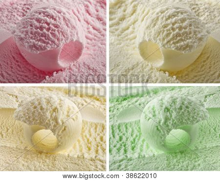 color ice cream