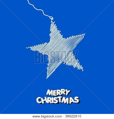 Christmas star illustration