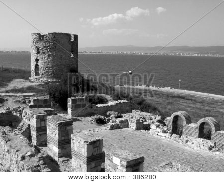 Nessebar Tower With Wall