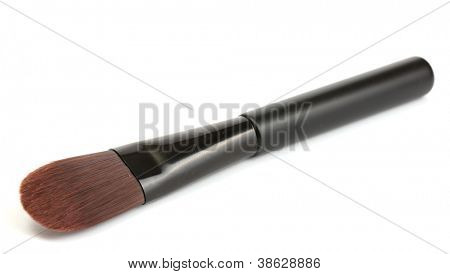 black brush for make-up isolated on white