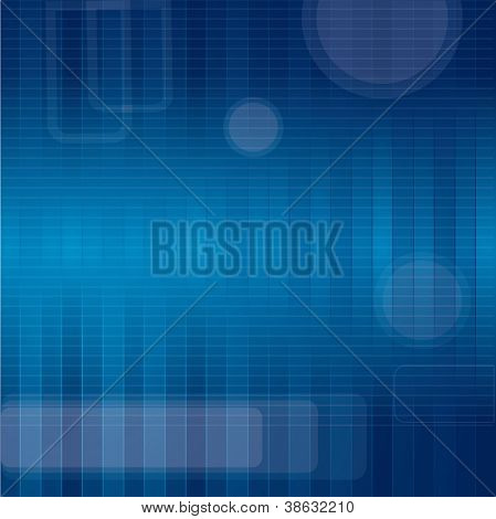 Blue background, technology theme