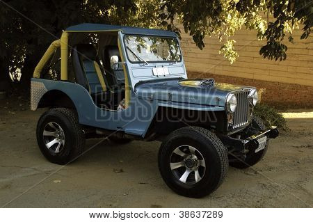 WEST POINT, CA - OCTOBER 6: Willy Jeep at the antique vehicle and hot rod car rally at the 38th Lumberjack day parade, on October 6, 2012 in West Point.