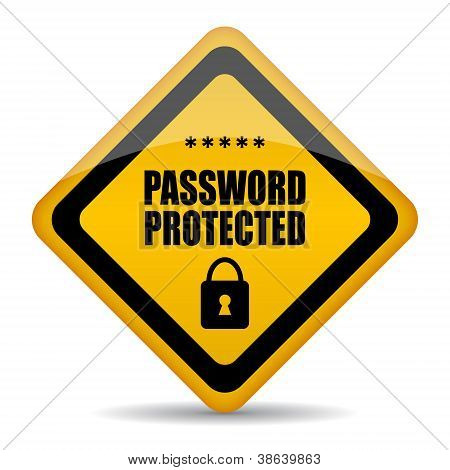 Password protected sign
