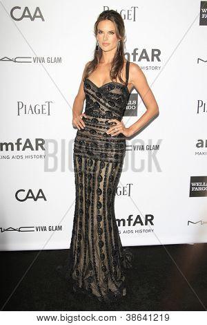 LOS ANGELES - OCT 11: Alessandra Ambrosio at amfAR's Inspiration Gala at Milk Studios on October 11, 2012 in Los Angeles, California.