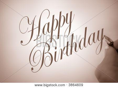 Callligraphy Happy Birthday