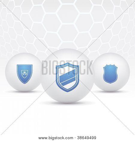 Vector icons illstratsiya shields