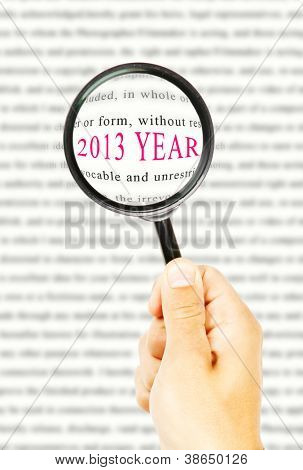 new 2013 year under magnification