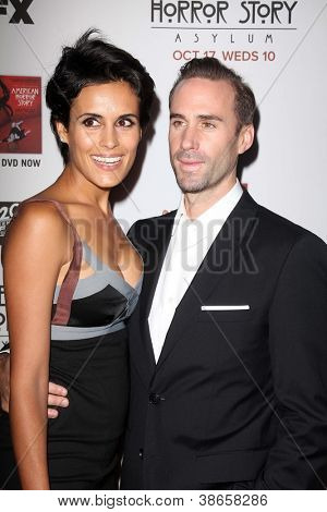 LOS ANGELES - OCT 13:  Maria Dolores Dieguez, Joseph Fiennes arrives at the