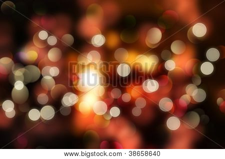 Abstract background of colourful Christmas bokeh lights