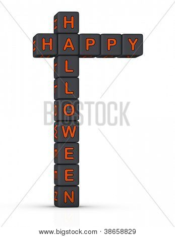 Happy Halloween design element for greeting card