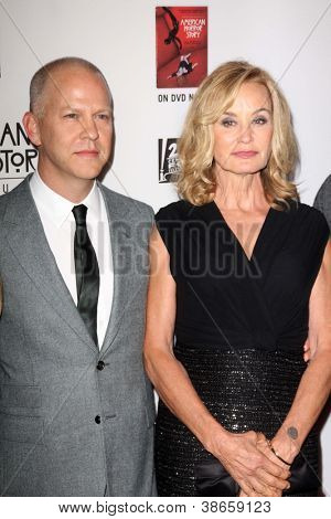 LOS ANGELES - OCT 13:  Ryan Murphy, Jessica Lange arrives at the