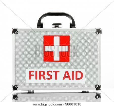 First aid box, isolated on white