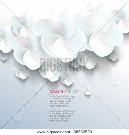 eps10 vector white sakura flower elements background