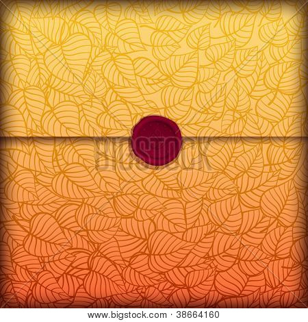 Autumn leaves letter made of fancy paper, vector eps10 illustration