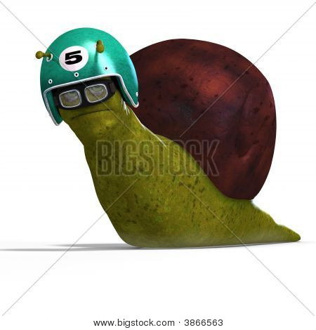 Cartoon Racing Snail