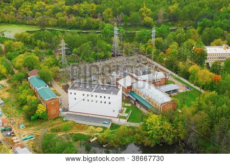 Sokolniki transforming power substation, view from above