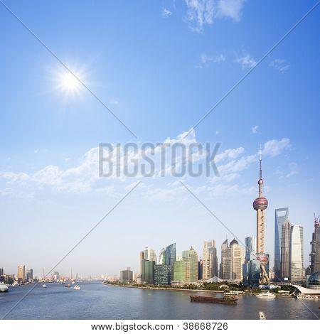paisaje urbano de la ciudad moderna