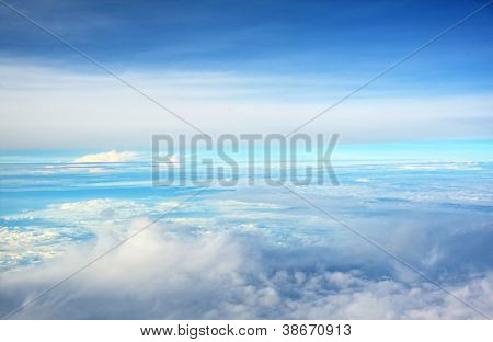 view on sky above clouds