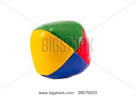 One  Colorful Jugglery Ball Isolated On White