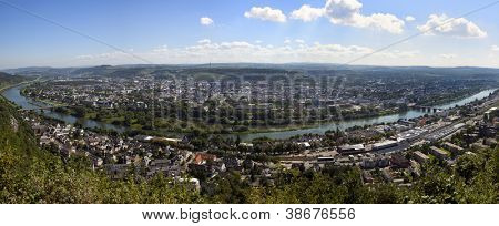 Panorama of Trier and the Mosel river