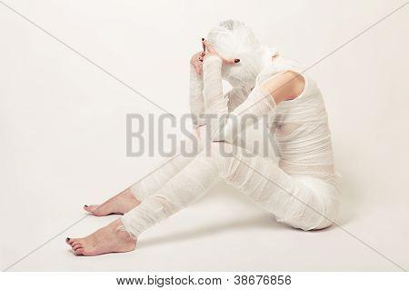 bandagierte Mumie