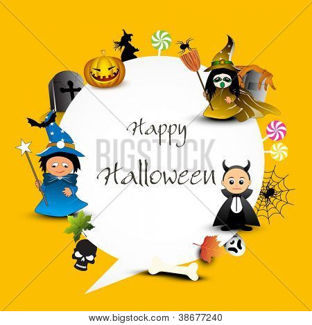 Halloween set with space for your message. EPS 10.