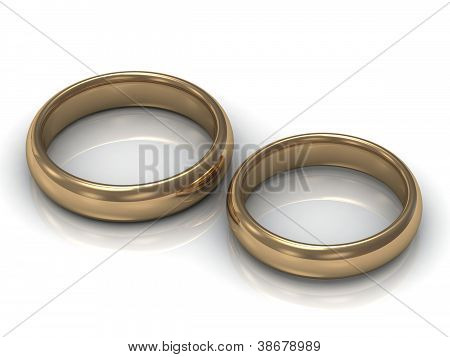Gold Wedding Rings For Newlyweds