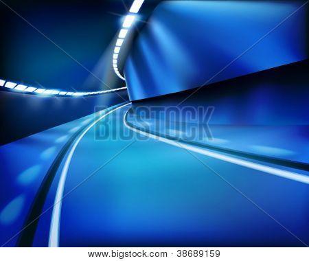 Empty tunnel. Vector illustration.