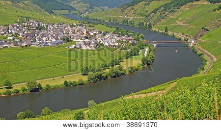 Trittenheim,Mosel River,Germany