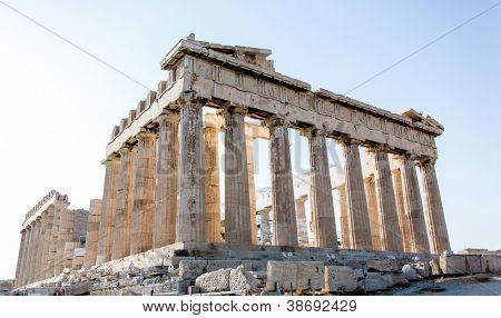 Beautiful Parthenon in Greece on a summery day