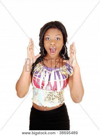 Surprised Black Girl.