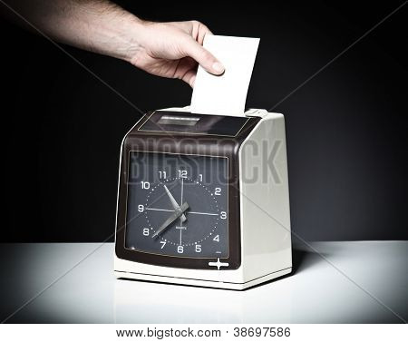 image of vintage check clock