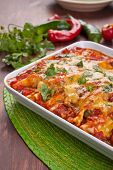 picture of enchiladas  - dish with traditional mexican food enchiladas - JPG