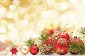 Постер, плакат: Рождественские украшения на абстрактный фон