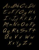 image of gold-dust  - Alphabet of gold glittering stars dust trail  - JPG