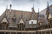 Hospices de dieu in beaune of the burgundy region, france, - church hospital
